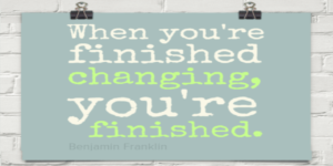 Benjamin Franklin and changes