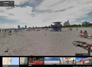 Google Street View en una playa